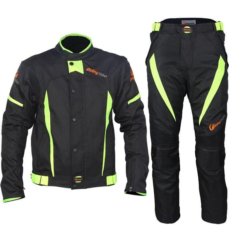 Motocross costume équitation tribu moto course costume tout-terrain vestes pantalon costume imperméable rallye avec doublure et protecteurs S37