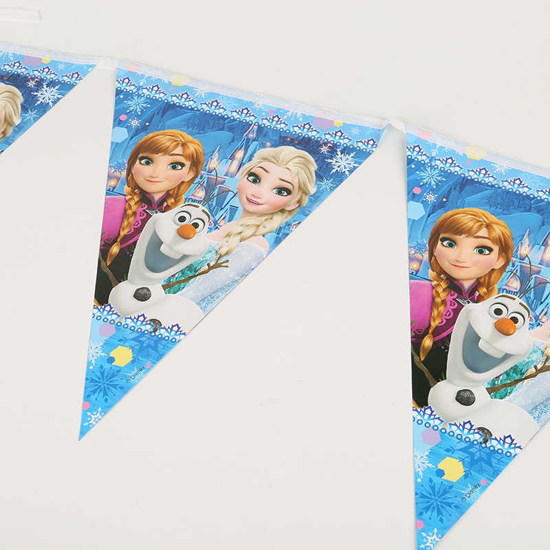 Frozen Party Baby Shower Birthday Party ตกแต่ง Elsa วันเกิดชุดวันเกิดเด็กอุปกรณ์ตกแต่ง