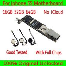 16 ГБ 32 г 64 г Бесплатная iCloud для iphone 5S материнская плата, 100% Оригинал разблокирован для iphone 5S материнская плата с сенсорным ID/без сенсорного ID