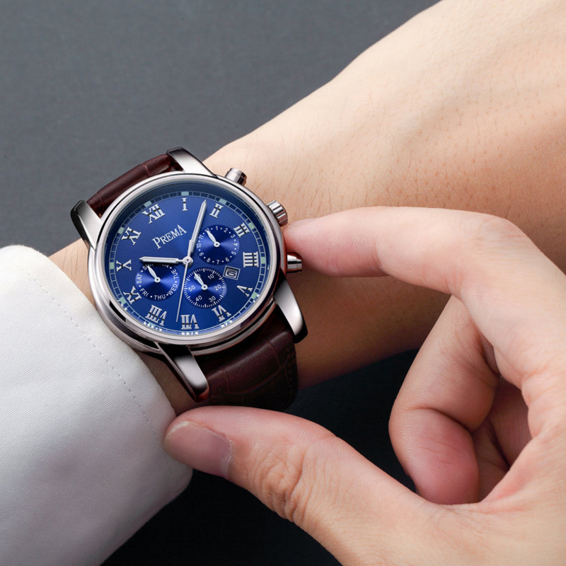 Image 5 - Prema Men watches 2019 luxury brand stainless steel waterproof quartz brand wrist Watch male bracelet Wristwatches gift clockWomens Watches   -