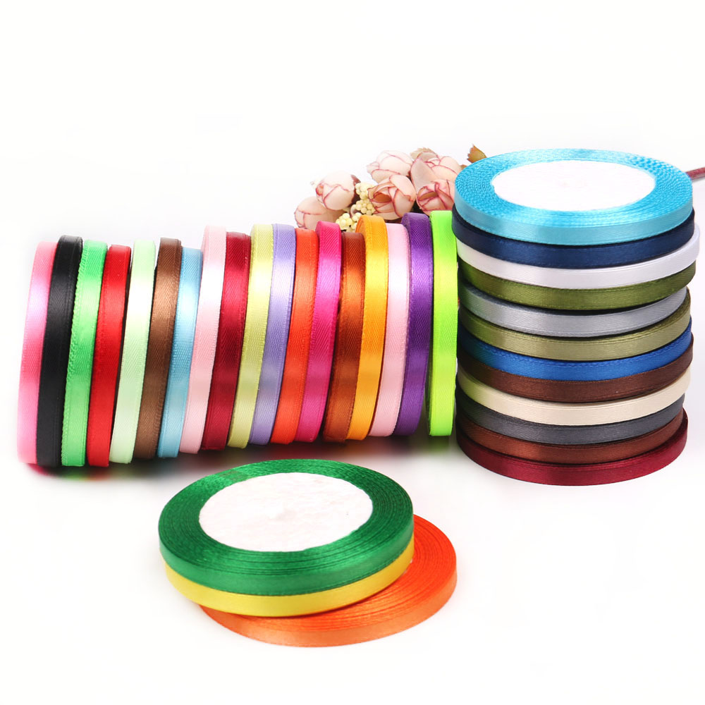 Ribbons  Ribbons: 22m Long Silk Satin Ribbon 10mm Wide Party Home Wedding Decoration Gift Wrapping Christmas New Year DIY Material Supplies