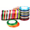 "Polyester / Nylon 1/4"" Satin Ribbon Cheap Diy Accessory 6mm Wide 25 Yards/lot Ribbons For Decor Party Wedding Gift Card Craft"