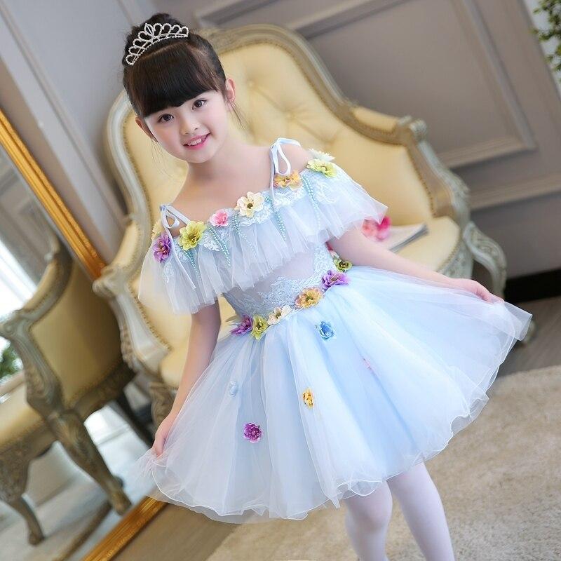 High quality children's dress puff princess dress new