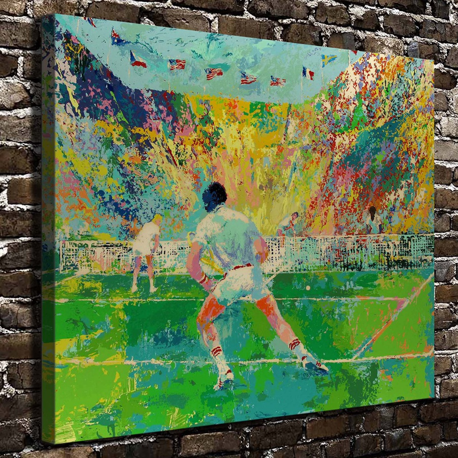 A1877 LeRoy Neiman Colorful World Tennis Match Figure ,HD Canvas Print Home decoration Living Room Wall pictures Art painting