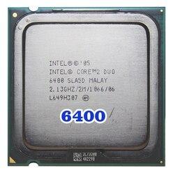 Original INTEL Core 2 Duo E6400 procesador de CPU (2,13 Ghz/2 M/1066 MHz), 65W Socket 775