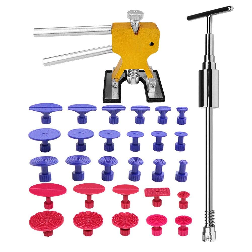 Furuix PDR outils enlèvement des dents sans peinture outils de réparation des dents onglets extracteur de Dent glisser marteau outil de levage de Dent kit d'outils à main