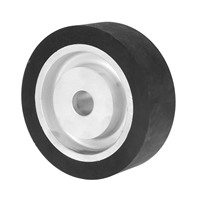 DRELD 150*50*25mm Flat Surface Rubber Contact Wheel Belt Grinder Wheel Abrasive Belt Set Polishing Grinding Sanding Wheel