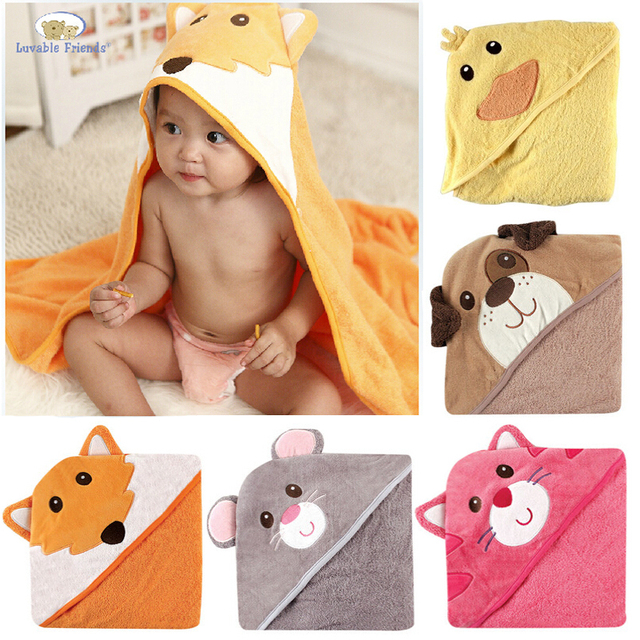 a5f88d274c New Luvable Friends Animal Charater Square Hooded Bath Towel Set Baby  Product Cartoon Baby Robe 100