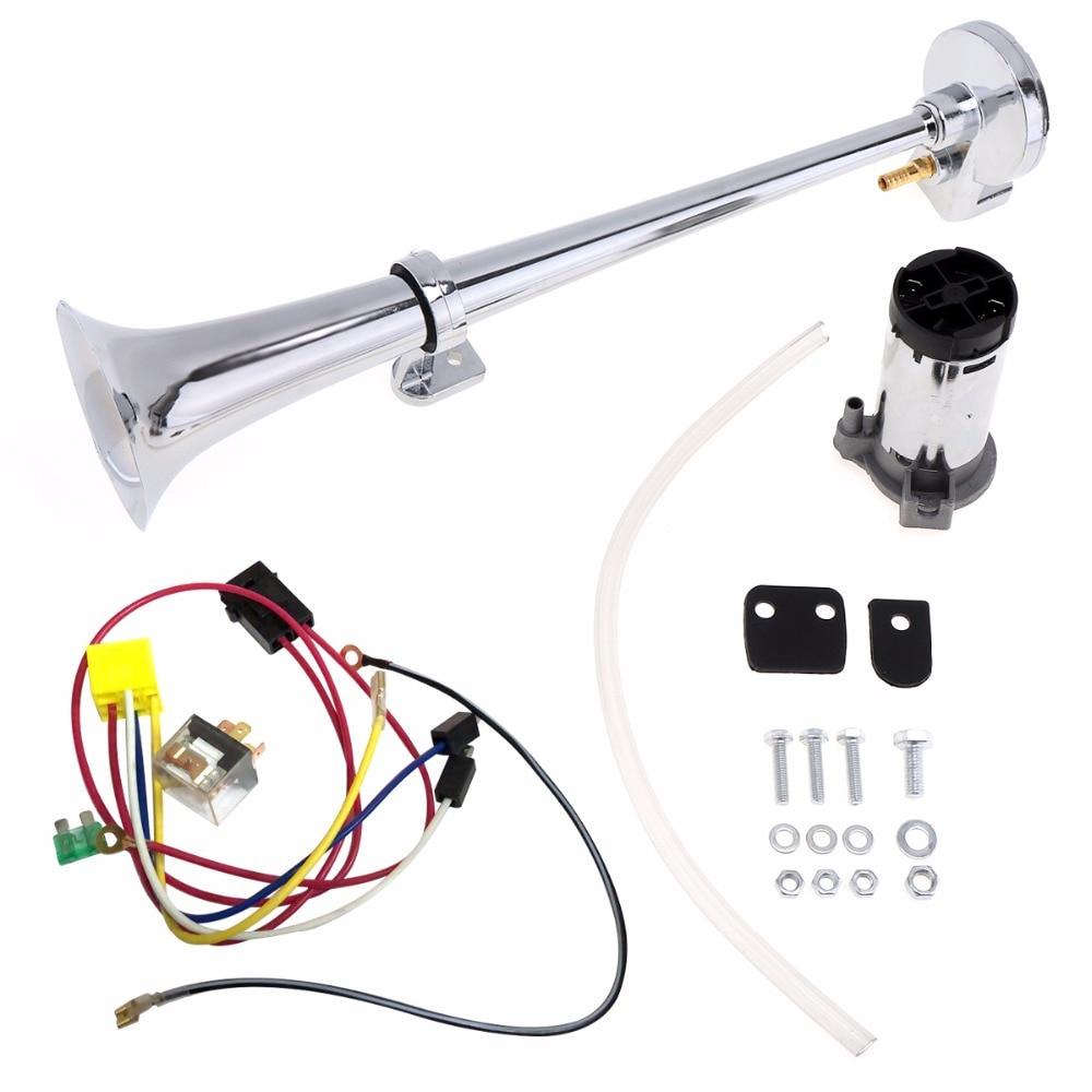 17 zoll 12 V/24 V 150DB Super Laut Einzelnen Auto Trompete Air Horn Kompressor Kit Mit Relais für autos/Lkw/Boote/Motorräder