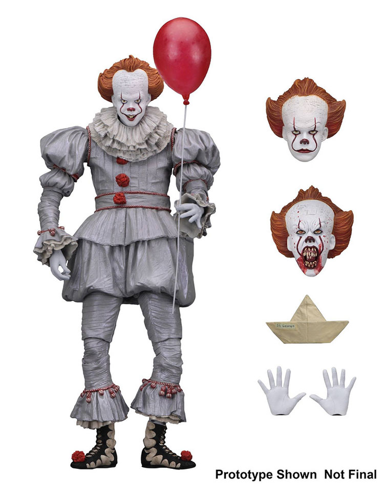 Neca 2017 VER Originale Stephen del Re Si Pennywise Joker clown Spaventoso Viso Horror Action Figure Giocattoli Bambole 18 centimetri