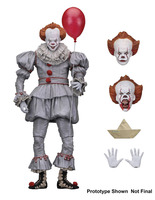 Neca 2017 VER Original Stephen King's It Pennywise Joker clown Scary Face Horror Action Figure Toys Dolls 18cm