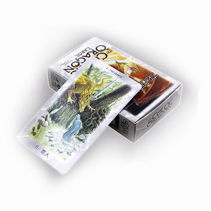 New Design Dragon Tarot Cards Board Game High Quality Paper 78 PCS Cards Chinese/English Edition for Astrologer