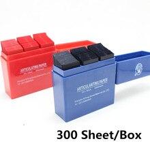 300 лист/коробка Стоматологические артикуляционные бумажные полоски красный/синий стоматологический лабораторный Инструмент Уход за полостью рта Отбеливание Зубов Стоматологический материал 55*18 мм