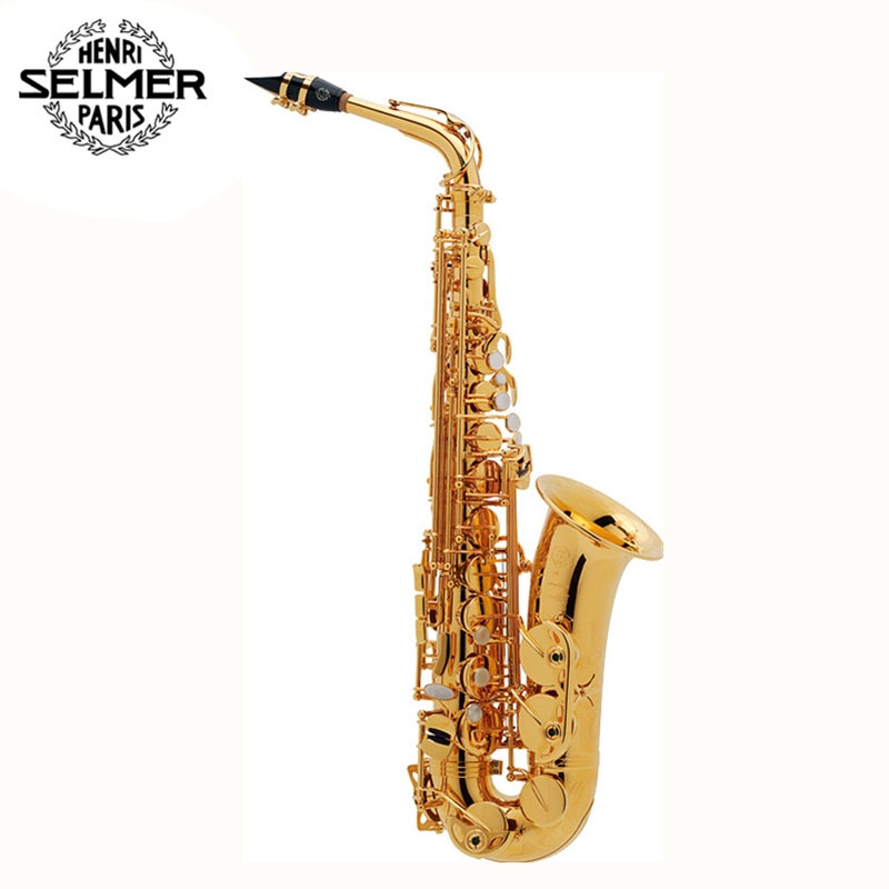Alto Saxophone France Selmer 802/54 Gold Plated Henri sax E Flat R54 Black Nickel Gold musical instruments professional bE sax  brand new france henri selmer soprano saxophone 80 black nickel gold sax mouthpiece with case and accessories