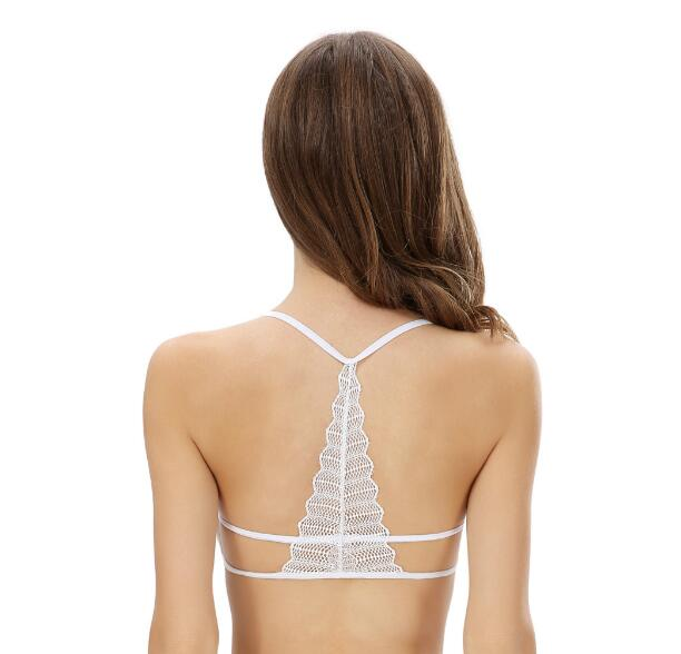 2017 New Arrival Comfortable Sexy Bra Adjustable Soft Lingerie Lace Bralette Tower Back Crop Top Cut Out Tank Bra Tops