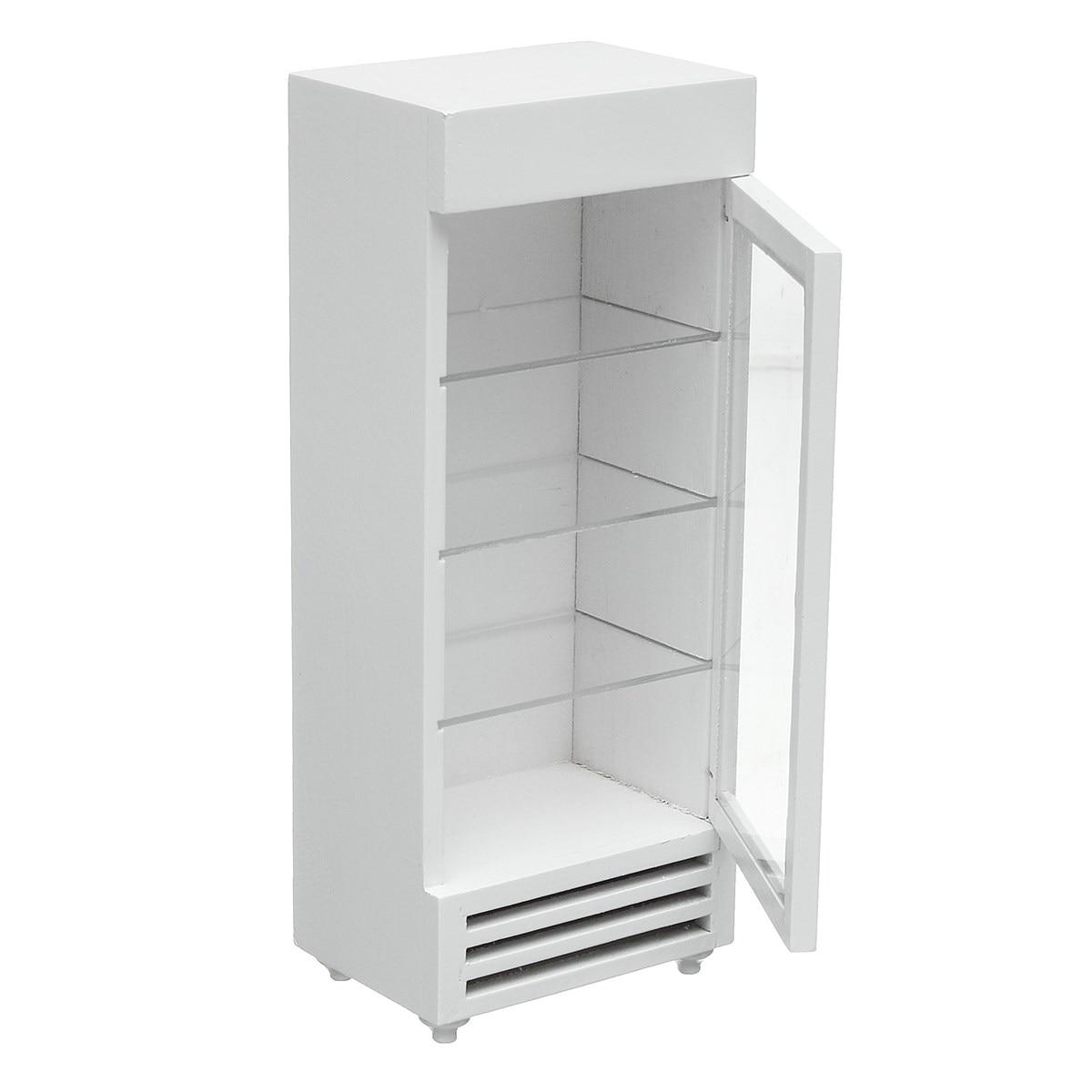 1:12 miniatur Display Weiß Holz Kühlschrank Puppenhaus Zubehör ...