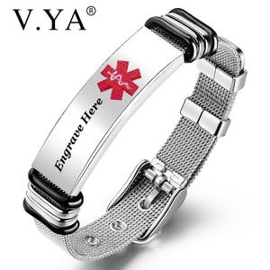 V.YA Engraved Medical Alert Me