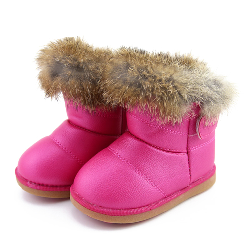 Winter Toddler Baby Snow Boots Shoes Warm Plush Soft Bottom Baby Boys Girls Boots Leather Winter Snow Boot Kids Shoes in Boots from Mother Kids