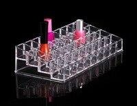 2017 Beauty Organizer High Grade 36 Grids Transparent Storage Box Acrylic Lipstick Holder Rack Woman Lady