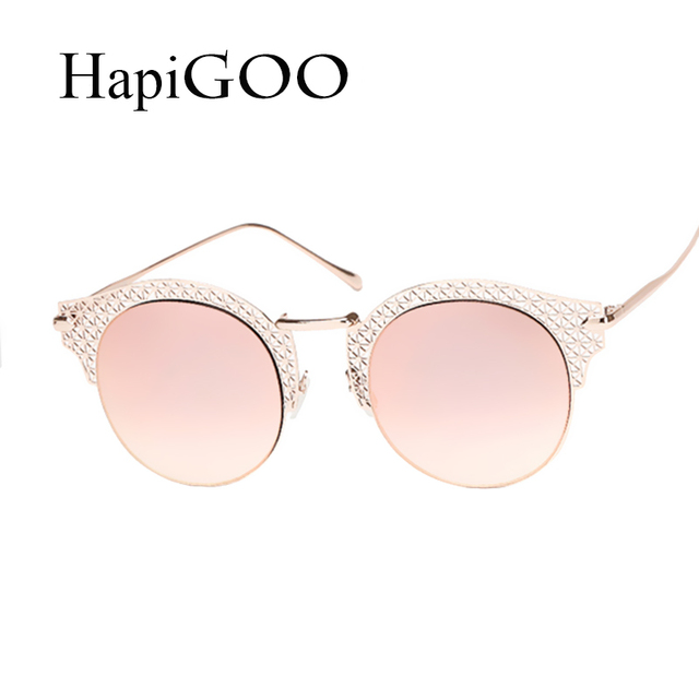 Eye Women Cat Frame Classic Carving Sunglasses Metal Luxury Vogue 0ppwF