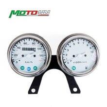 Механический одометр из нержавеющей стали для мотоцикла, спидометр и инструмент для скорости двигателя, кафе-гонщик