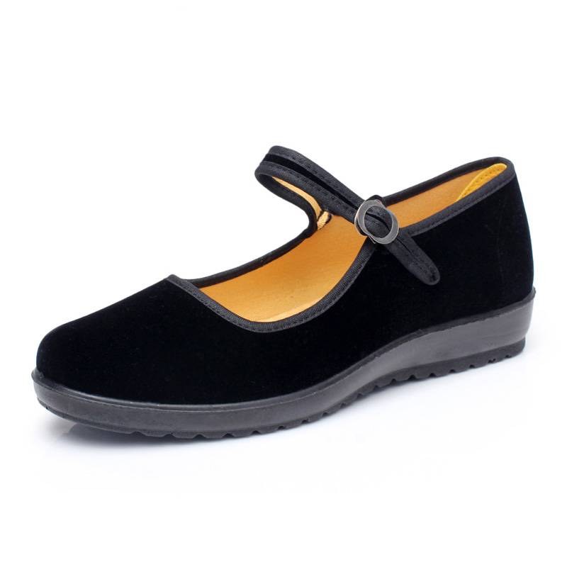 092980d94c72 Classic old beijing cloth shoes women flats soft comfortable mother shoes  black mary janes non slip