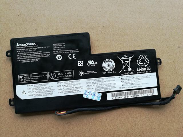 Batería del ordenador portátil genuino para lenovo thinkpad t440 t440s x240s x240 x250 x250s t540 45n1108 45n1109 45n1112 45n1113 45n1110
