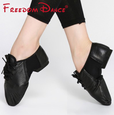 Genuine Leather Center Stretch Jazz Dance Shoes Lace-Up Ballet Jazz Dancing Sneakers For Men And Women Black Free ShippingGenuine Leather Center Stretch Jazz Dance Shoes Lace-Up Ballet Jazz Dancing Sneakers For Men And Women Black Free Shipping