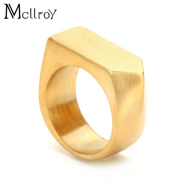 Mcllroy Titan Nam Chải Cưới Thép Vững Chắc không gỉ Nhẫn Nữ Nhẫn Đính Hôn nam trang sức Thứ Sáu đen trang sức