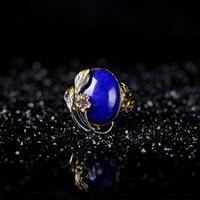 Природный Афганистана зеленое золото Ши Цзин поверхности 925 серебряное кольцо ювелирных изделий оптом восстановление древних способов на