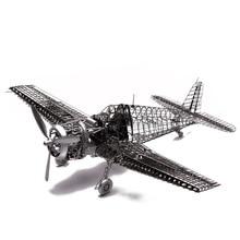 Купить с кэшбэком 1/48 F6F-5 Hellcat Full PE Model Jasmine Foldable Wing Fun 3d Metal Diy Miniature Kits Puzzle Toys Splicing Hobby Building