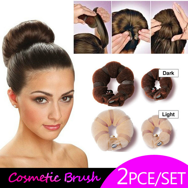 donut hair style hair styles with donuts solid sponge taenia hair 1153