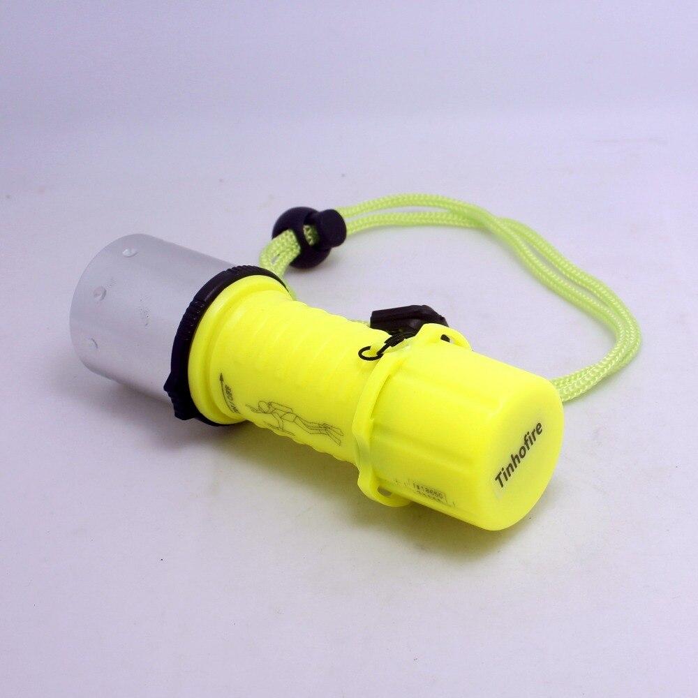 Tinhofire Diving Flashlight Cree Xml T6 Led Underwater