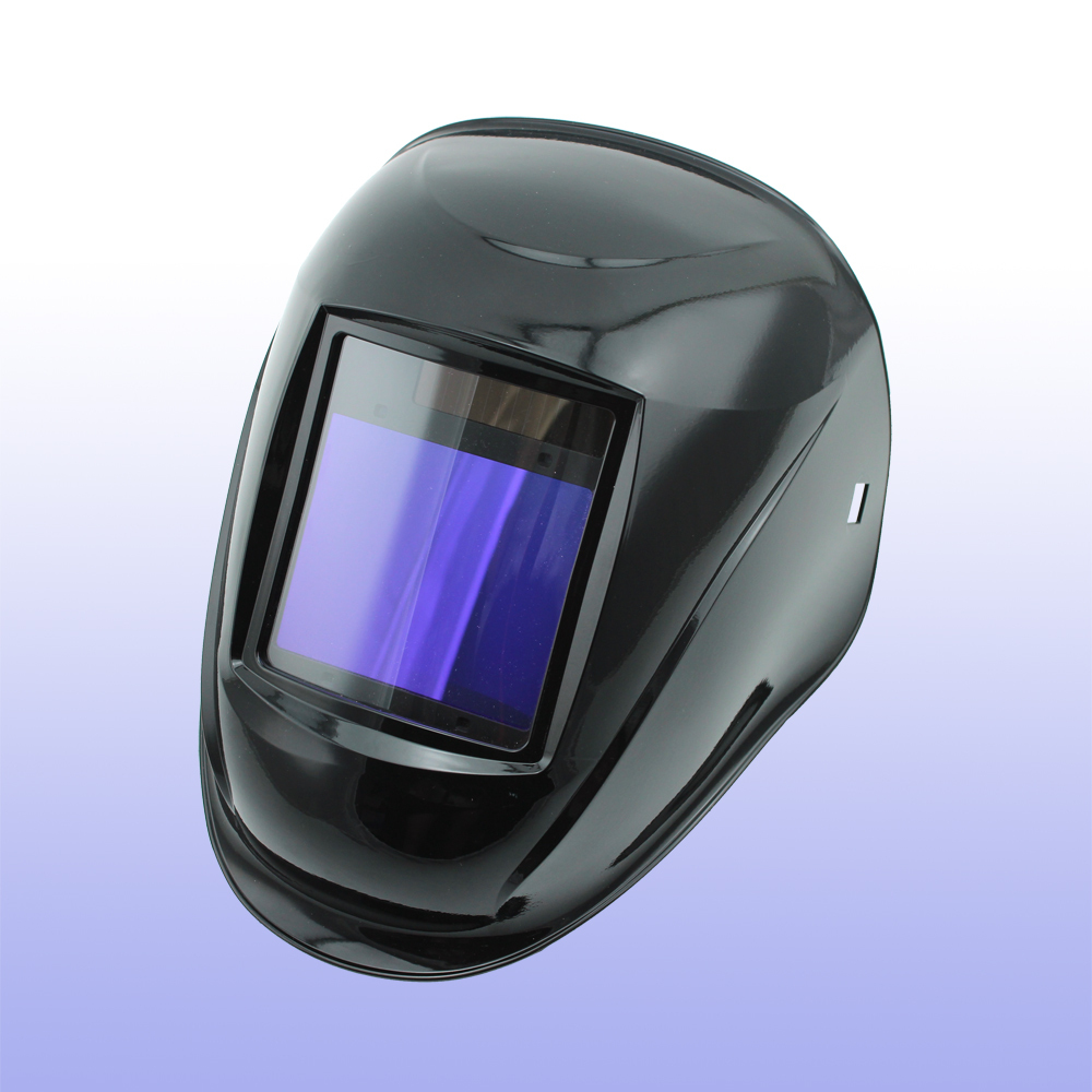 Auto assombrissement casque de soudage/masque de soudage/MIG MAG TIG (Grand-918I NOIR)/4arc capteur/Solaire cellulaire et Remplaçable Li-batteries