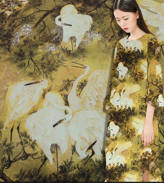 Tissus de mètre de textile de mousseline de soie de couture pour des robes de patchwork, stoffentissu au mètre, matériel de satin d'impression, C101