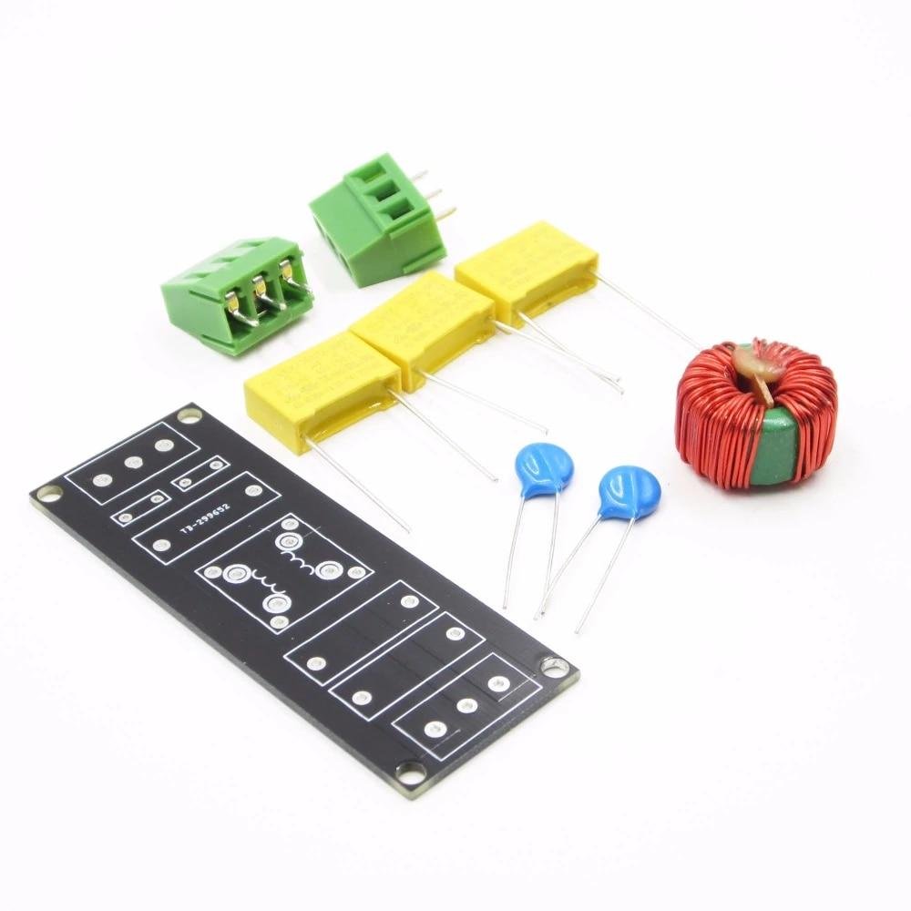 1Pcs Emi 3A Power Filter Board Socket For Pre-Amp Amplifier Dac Headphone Kit ma