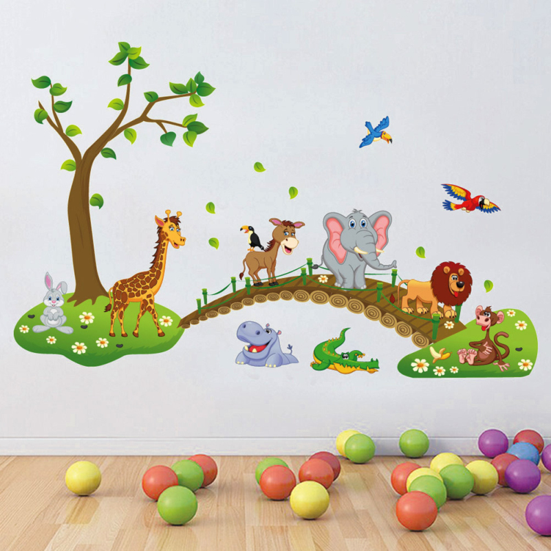 Cartoon Animal Wall Stickers for Kids Rooms Decor DIY Art Decals Removable  Sticker Modern Home Accessories. Online Buy Wholesale modern home accessories from China modern