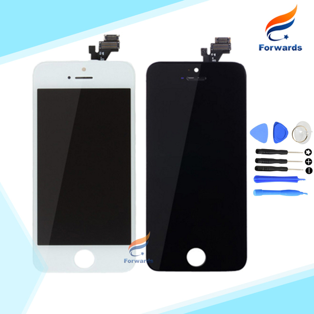 100% Guarantee for iPhone 5 5G Lcd Screen Display with Touch Digitizer + Tools Full Assembly Black&White 1 piece free shipping