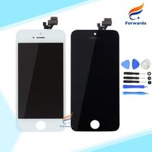Garantía 100% para el iphone 5 5G Pantalla Lcd con toque Asamblea Digitalizador + Herramientas Completa en Blanco y Negro 1 unidades envío gratis