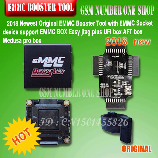 2018 Newest Original EMMC Booster Tool with EMMC Socket device support EMMC  BOX Easy jtag plus UFI box AFT box Medusa pro box