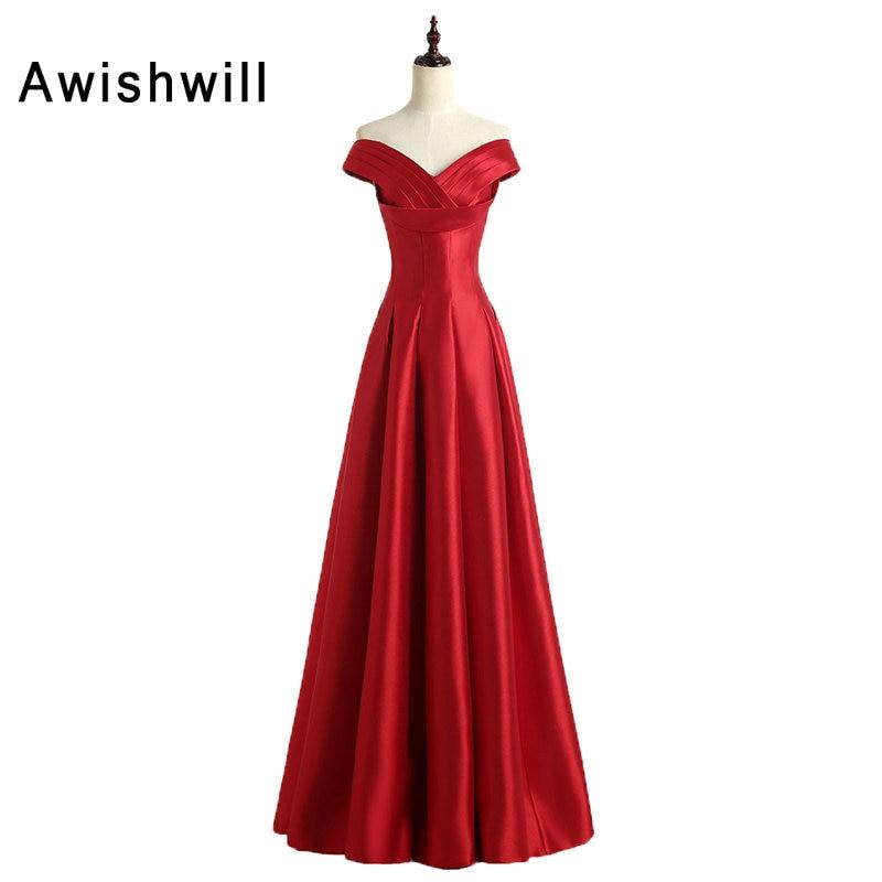 Simple Elegant Long Sleeve V Neck A Line Lace Top Satin: Vintage Red Evening Dresses Simple Design Cap Sleeve V