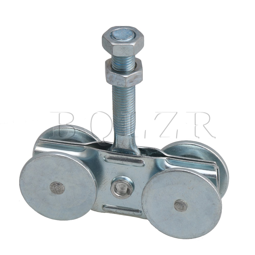 BQLZR Steel Rail Hanging Trolley Wheel Sliding Track Roller Load-bearing 90kg w/Nuts H1-4 for Barn Door Home Hardware bqlzr silver steel rail hanging trolley wheel sliding track roller load bearing 90kg w nut h3 1 for barn door home hardware
