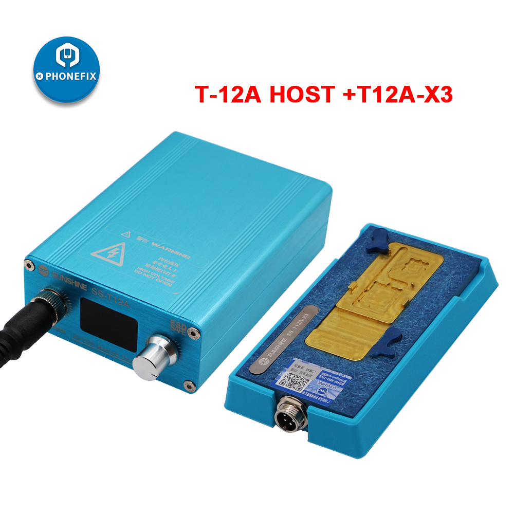 T12A X3 3 IN 1 SS T12A Phone Double Layers Board Pre heating Rework Station for iPhone X XS MAX motherboard desoldering repair