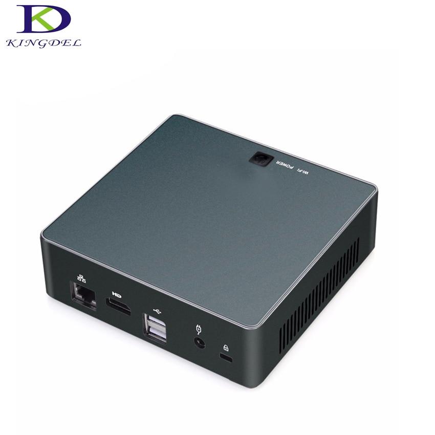 Mini PC, Mini Computadora de Escritorio, Core i7 6500U/i5-6200U, Gráficos de ALTA DEFINICIÓN 520,4 K HDMI, 1 * LAN, 2 * USB3.0, caja de la PC con Ventilador Mudo, Windows 10