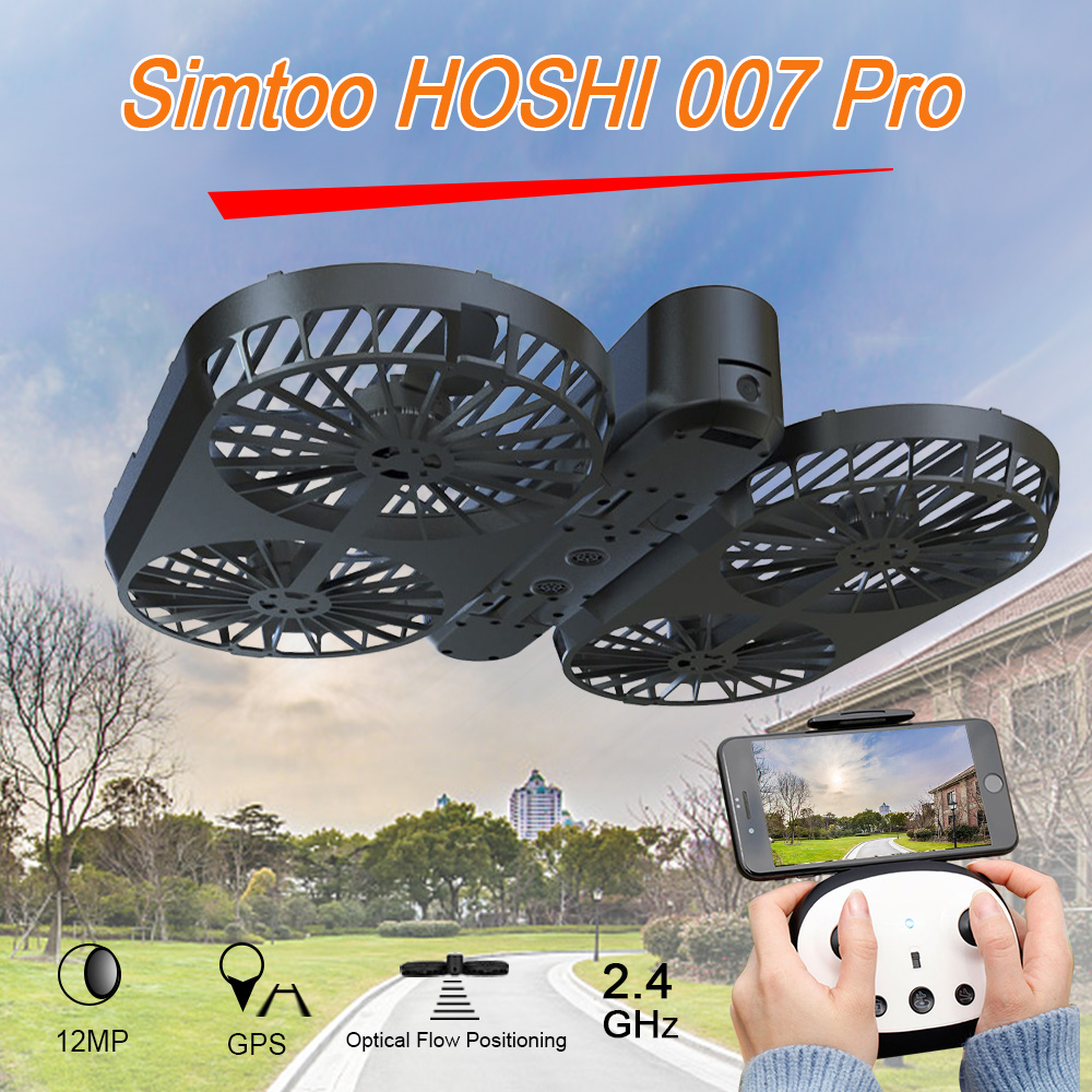007 Pro 12MP 4K Drone with Camera Wifi FPV Selfie Dron Brushless Foldable Optical Flow GPS Quadcopter w/ Remote Controller