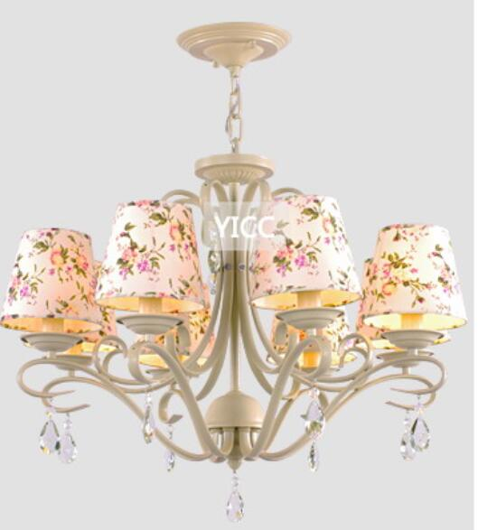 iron lamp botticing 3/6/5/8 heads Multiple Chandelier Lighting fashion rustic fabric living room restaurant lamp multiple chandelier black white bedroom living room wrought iron chandeliers 5 6 8 heads personality lamp zag