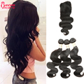 Malaysian Body Wave With Closure 7A Unprocessed Malaysian Virgin Hair With Closure 3 Bundles With Closure Malaysian Body Wave