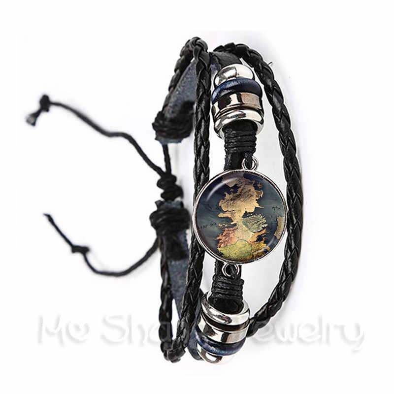 Na całym świecie mapę świata w nowym bransoletka w stylu retro świat podróży wykonuje w ramach realizacji waszego projektu szkła gięte między innymi poszukiwacz przygód czarny/brązowy 2 kolor bransoletka prezent dla przyjaciół