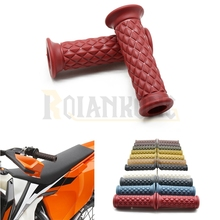 Motorcycle Universal accessories Retro Silicone  with 7/8 22cm handle grip For yamaha honda ktm