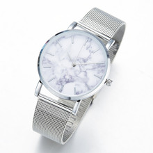 Elegant Women's Wristwatches with Marble Themed Pattern